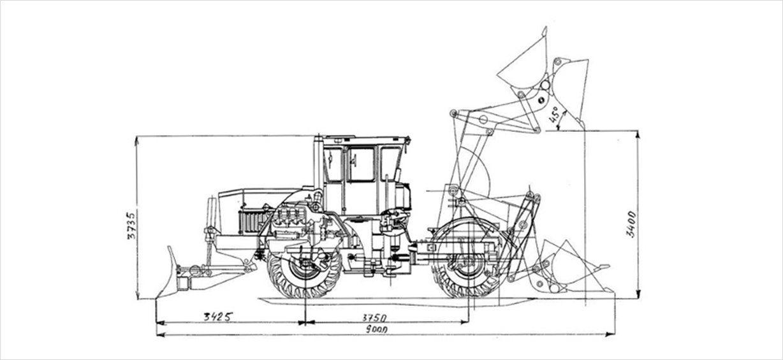 Схема Кировец К-703М-12